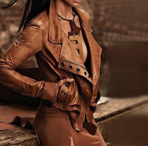 Мотоциклетная куртка, пальто для женщин, короткая, коричневая, винтажная, панк, зимняя женская верхняя одежда, зимняя женская одежда, парки с...