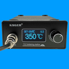 KSGER STM32 V3.1S T12 Soldering Station OLED DIY Aluminum Alloy FX9501 Handle Electric Tools Quick Heating T12 Iron Tips 8s Tins