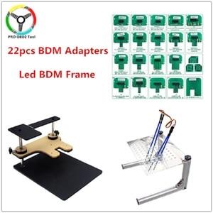 22pcs BDM Adapters LED BDM FRAME Full Set Used for Auto ECU Chip Tuning Tool KTAG K-TAG KESS FgTech V54 BDM100