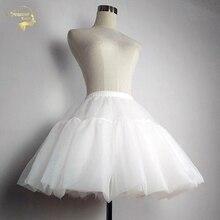 Free Short Halloween Petticoats Crinolines Tutu Adult Womens Skirt Slip Underskirts Lolita Rockabilly Dress cancan para vestido