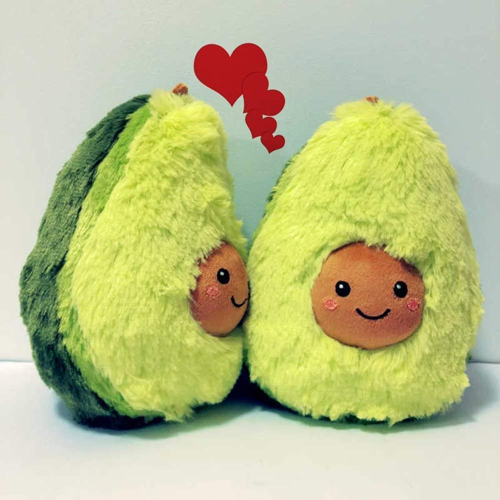 15-30CM Cute Cartoon Avocado Fruits Stuffed Plush Dolls Toys For Children Kids Sofa Cushion Pillow Appease Girls Birthday Gift