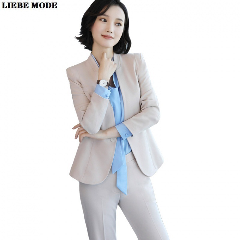 3 Piece Set Women Blazer Shirt Pants Suit Office Uniform Designs Formal Pant Suit for Women Work Wear Trousers Suits Ladies 5XL