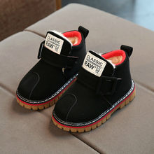 2019 New Winter Shoes Baby Sohoes Kids Plus Velvet Thickening Leather Martin Boots Male Girl 1-3-5- Year Baby Cotton Boots(China)