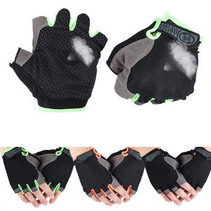 Fingerless-Gloves Bicycle-Sport Half Wrist-Wrap Mittens Non-Slip for Fitness Body-Building