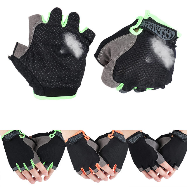 Half Fingerless Gloves Non-slip Sport Mittens Cycling Gloves Bicycle Sport Wrist Wrap Gym Gloves for Fitness Body Building