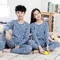 Для подростков, пижама с длинными рукавами 100%, пижамы из хлопка, ночная рубашка, Одежда для крупных детей комплектов пижам для мальчиков, оде...