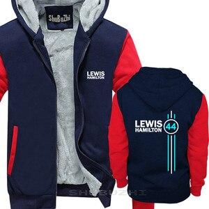 Image 3 - Lewis Hamilton 44 Mens del rivestimento di spessore autunno inverno di marca pullover per uomo cotone uomo top moda uomo top con cappuccio sbz5334