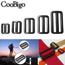 Sliplock-Buckle Bag-Straps Webbing Tri-Glide-Slider Adjustable Plastic Black Size-20mm