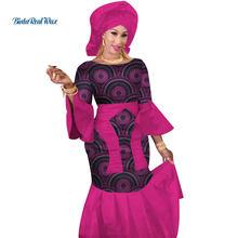 Bazin – robe longue en cire 100% coton, vêtements africains, imprimé, écharpe de tête, pour femmes, WY3089