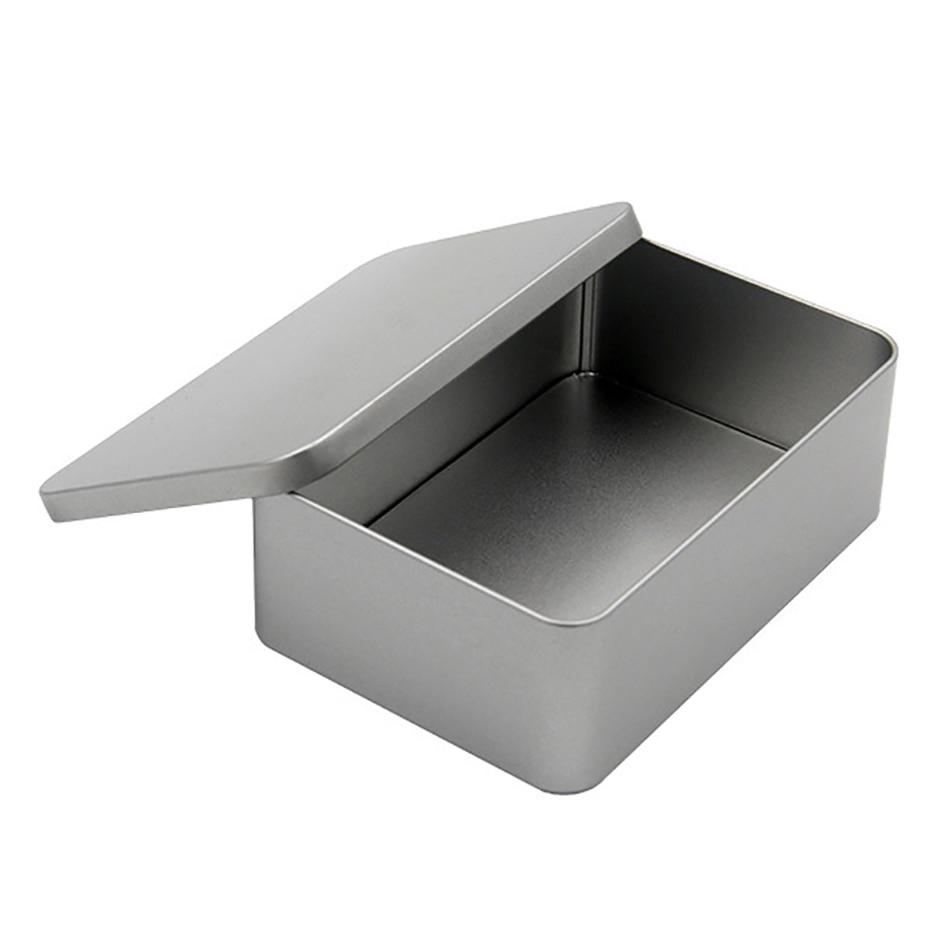 Star Packaging  Hinged Small Metal Rectangular Hot Sale Gift Tin Packing Box