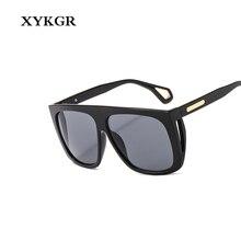 XYKGR new fashion square sunglasses ladies brand designer gradient lens glasses mens retro classic black UV400