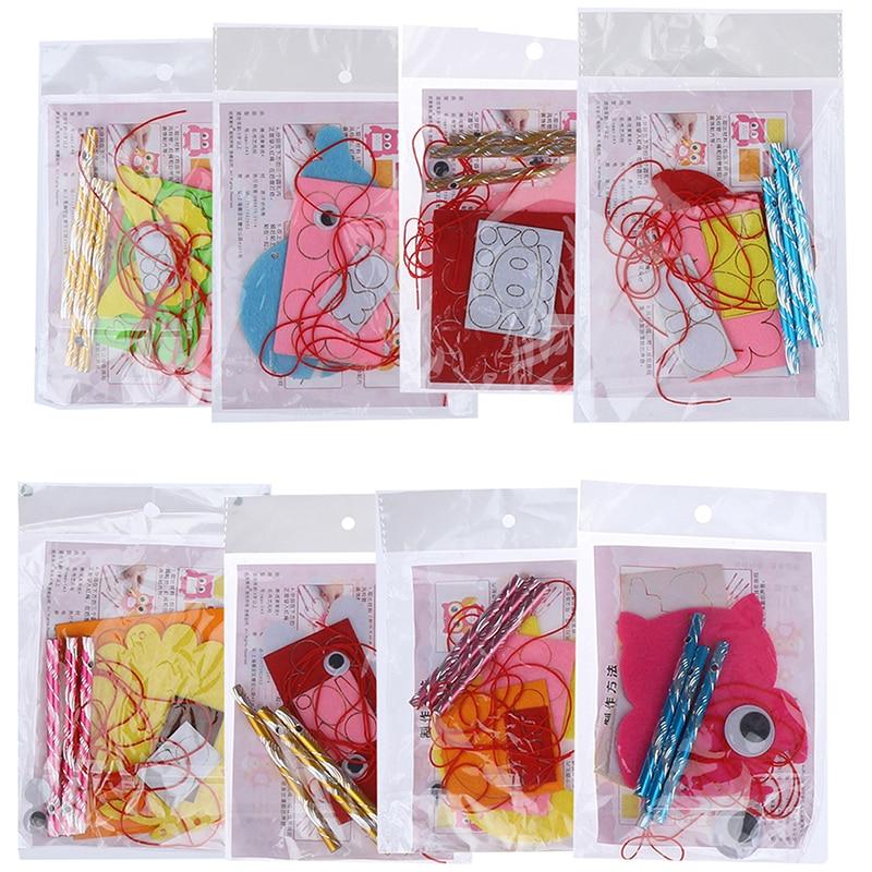 Cartoon DIY Wind Chimes Aeolian Bells Educational Puzzle Toys Kids Children Craft Kits Handmade Felt Plush Toys