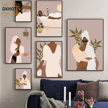 Nordic Fashion Posters for Girl Room Noble Woman Taking Bath Modular Printed Pictures Wall Art Decoration Modern Home Decoration