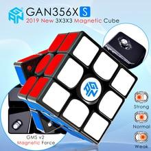 Gan356x s magnético magia velocidade gan cubo profissional stickerless gan356xs ímãs cubos gan356 x s 3x3 puzzle cubo gans