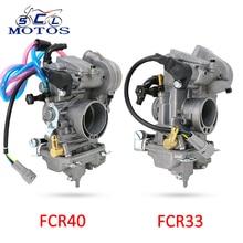 Sclmotos- Мотоцикл Keihin FCR Carb Карбюратор для Honda CRF150R CRF250 CRF450 XR250 FCR Калибр 33 мм 40 мм Carburedor