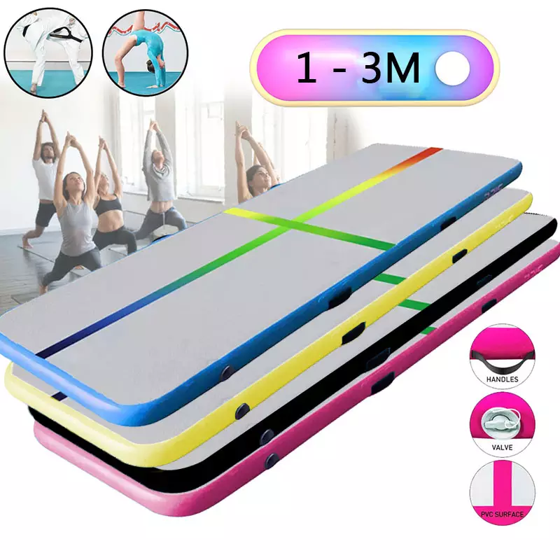 Inflatable Air Track 1m 2m 3m Gymnastics Professional Airtrack Yoga Sport Wrestling Buffer Prevent Injuries Tumbling Mats