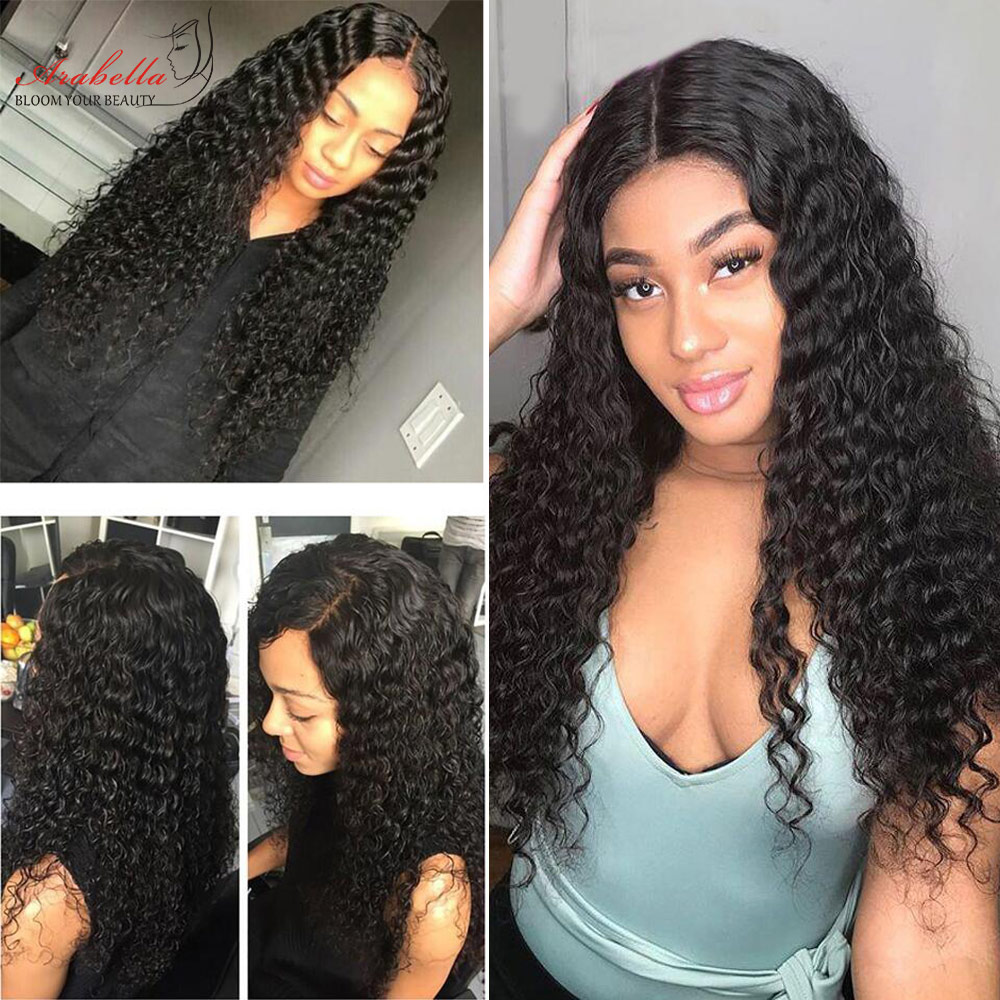 ARABELLA Deep Wave Lace Closure Wig 13X4 Lace Frontal Wig With Baby Hair  Pre Plucked Deep Curly Wig Glueless Lace Front Wig 4