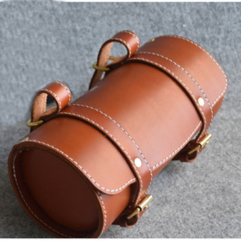 Leather bicycle Vintage bike bag commuter bike bag of motorcycle Retro tail bag leather  cushion bicycle  bag 22cm*10cm