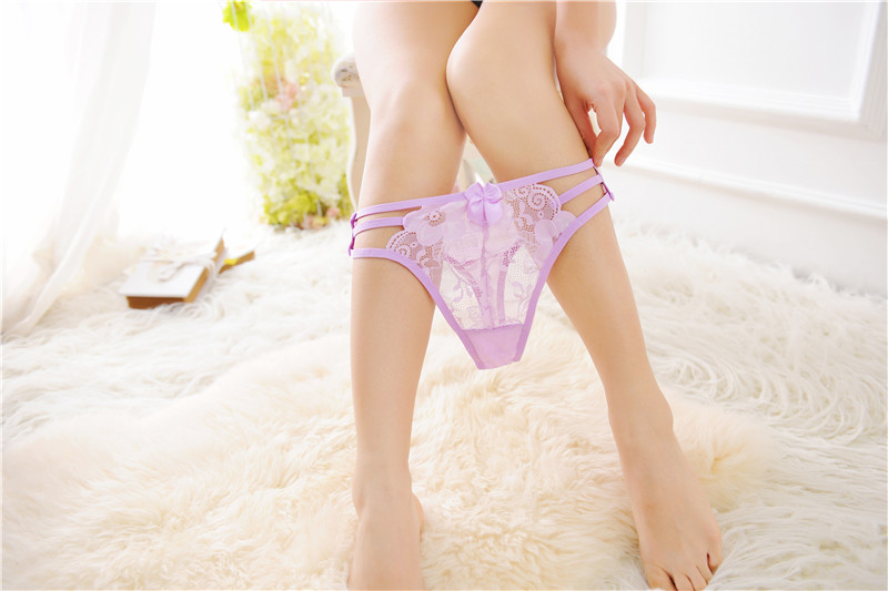 Top Sexy Bandage Women G-String Underwear Seamless Temptation Thongs Lace Embroidery T-Back Briefs Ladies Panties Knickers