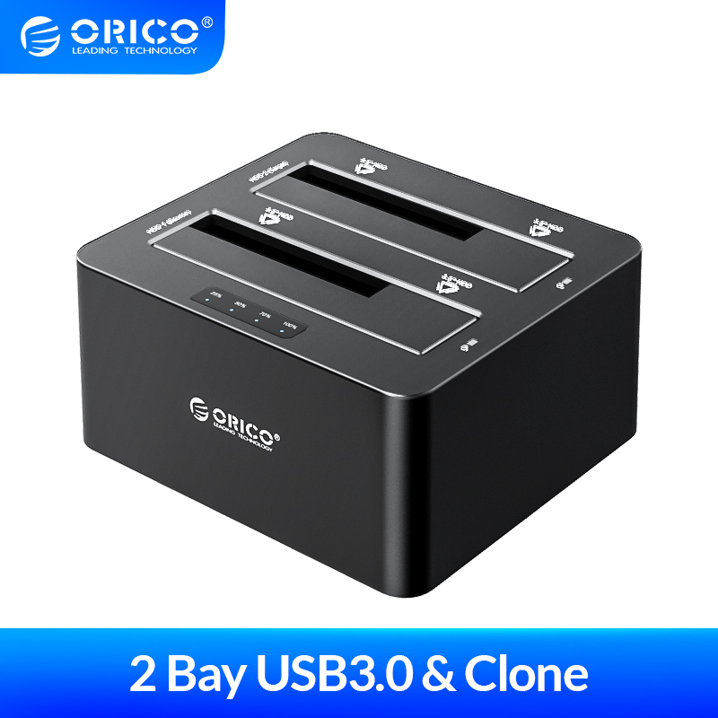 ORICO 2 bay 2 5 3 5 inch USB3 0 to SATA HDD Docking Station with Offline Clone HDD Case Support UASP Protocol 16TB HDD Encosure