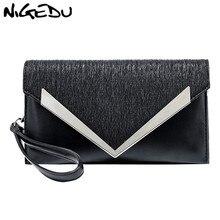 купить NIGEDU Women Clutches Luxury Party ladies Dinner bag lady envelope Clutch purse PU leather Shoulder bag for female Crossbody bag дешево
