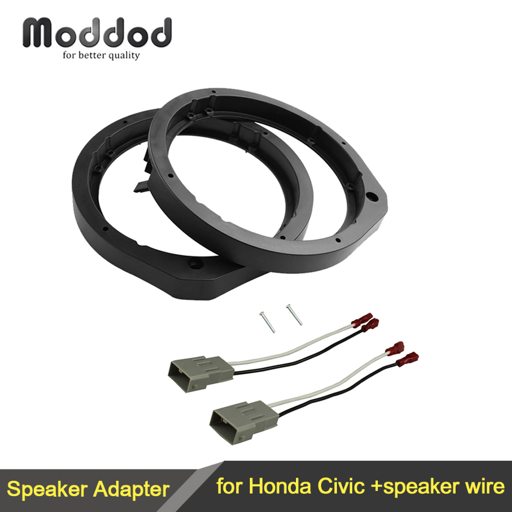 "Speaker Adapter untuk Honda Civic Accord Crosstour CR-Z 6.5 ""/6.75"" 165mm Berdiri Bingkai Cincin Wiring Harness Konektor Kabel"