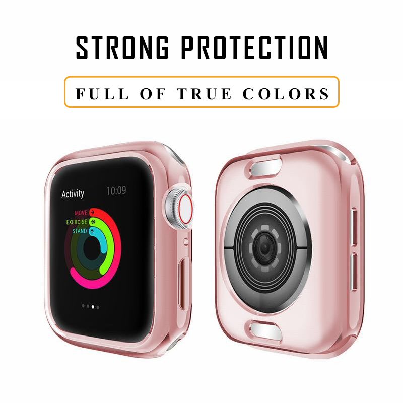 MDNEN Full Cover For Apple Watch Case For IWatch Series 4 3 2 1 Size 38mm/40mm/42mm/44mm TPU Case HD Transparente Ultrafino