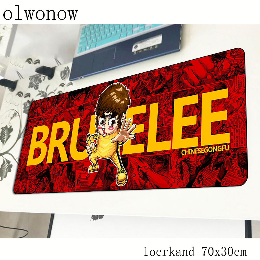 Kung Fu Mouse Pad Gamer For Bruce Lee 700x300x2mm Notbook Mouse Mat Gaming Mousepad Large Wrist Rest Pad Mouse PC Desk Padmouse