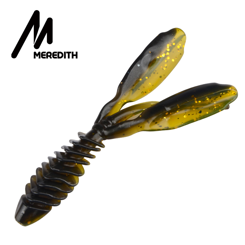 MEREDITH DoliveCraw II Worm Lure Soft Bait 95mm 10pcs 5.8g Fishing Lures Pesca Carp Fishing Bass Lure Shrimp Artificial Tackle