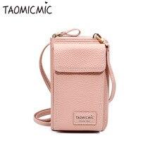 Women Cell Phone Bag Ladies Large Capacity Mobile Wallet Female Zipper Shoulder