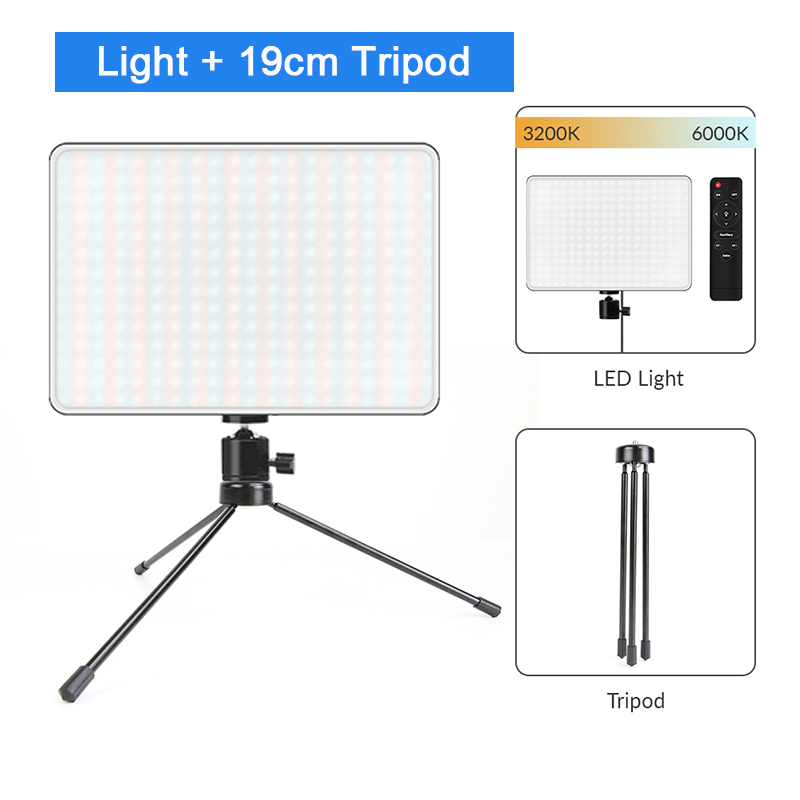 H1ae6fab16ddc46fa9d28ee305ccffbedd Dimmable LED Video Light Panel EU Plug 2700k-5700k Photography Lighting For Live Stream Photo Studio Fill Lamp Three Color