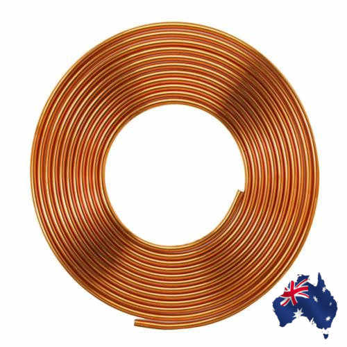 "5m 3/8""inch Soft Coil  Pipe Copper Brass Tube Hose Air Conditioner  Tube Refrigeration Copper Pipe Refrigerant Gas DIY Cooling"