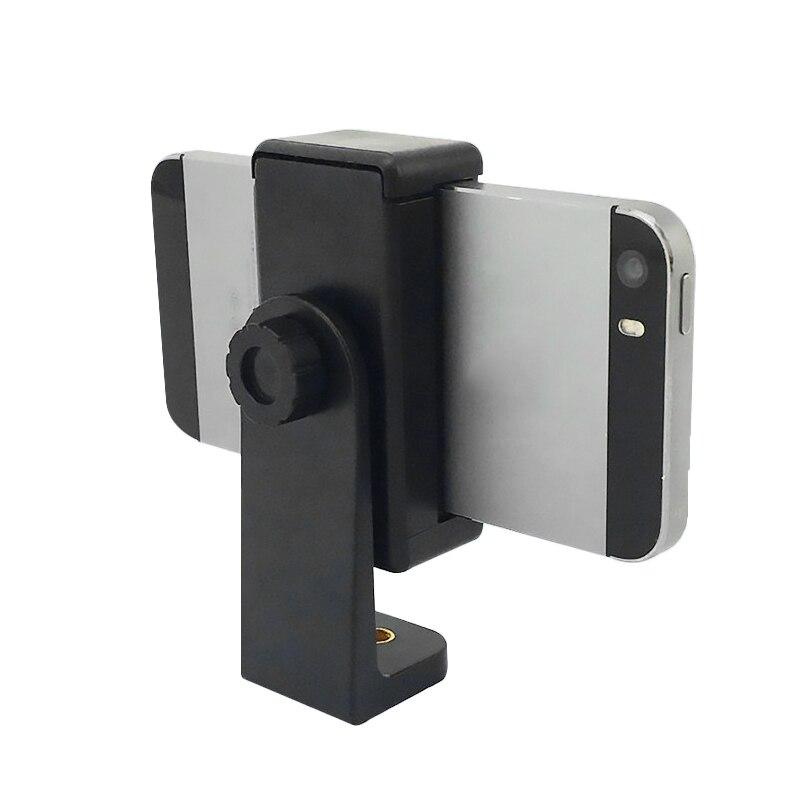 360 Rotation Alloet 1/4 Screw Tripod Head Phone Holder Tripod Monopod Holder Bracket Clip Mount For IPhone Xs For Samsung Stand