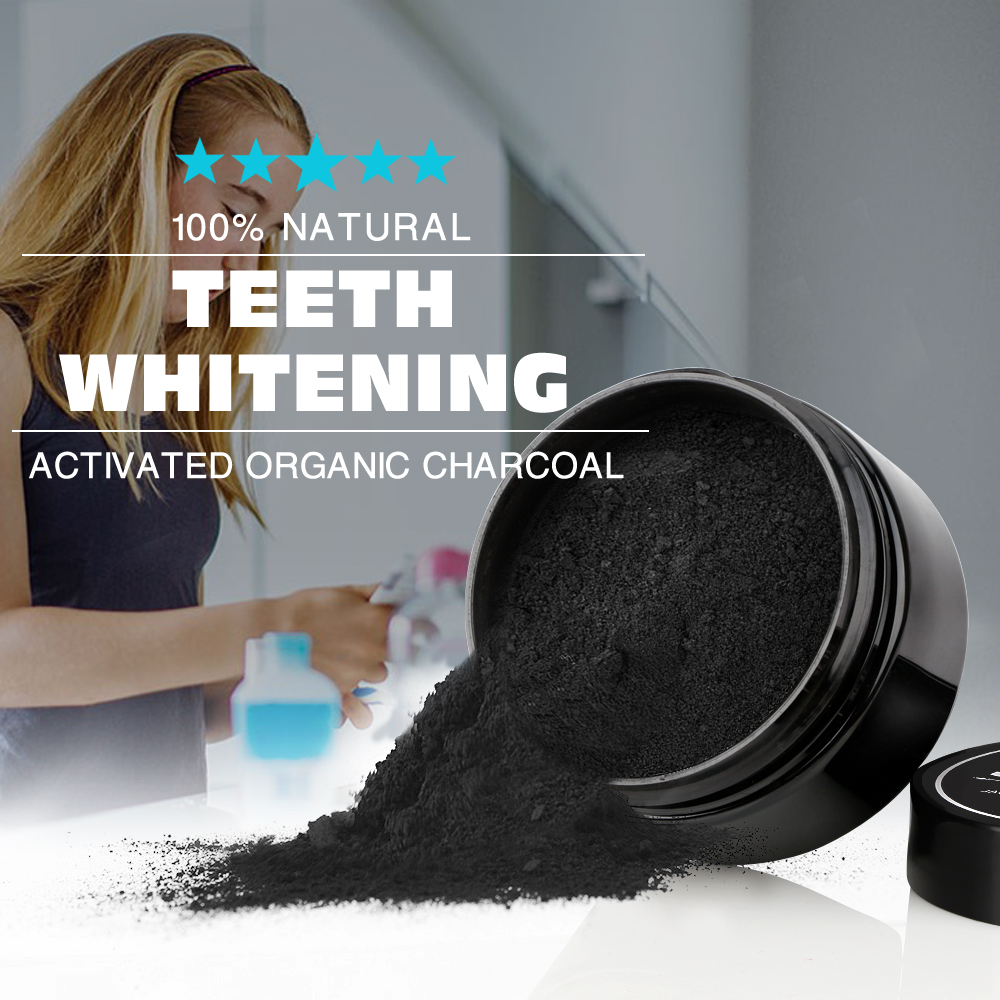Human - Tooth Care Natural Activated Charcoal Teeth Whitening Powder Toothpaste Oral Hygiene Dental