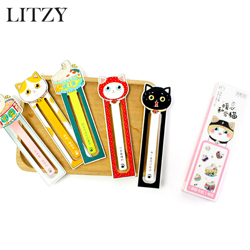 30 Pcs/lot Kawaii Animal Cat Bookmark Stationery Bookmark Paper Book Markers Marque Page Office Accessories Cute School Supplies