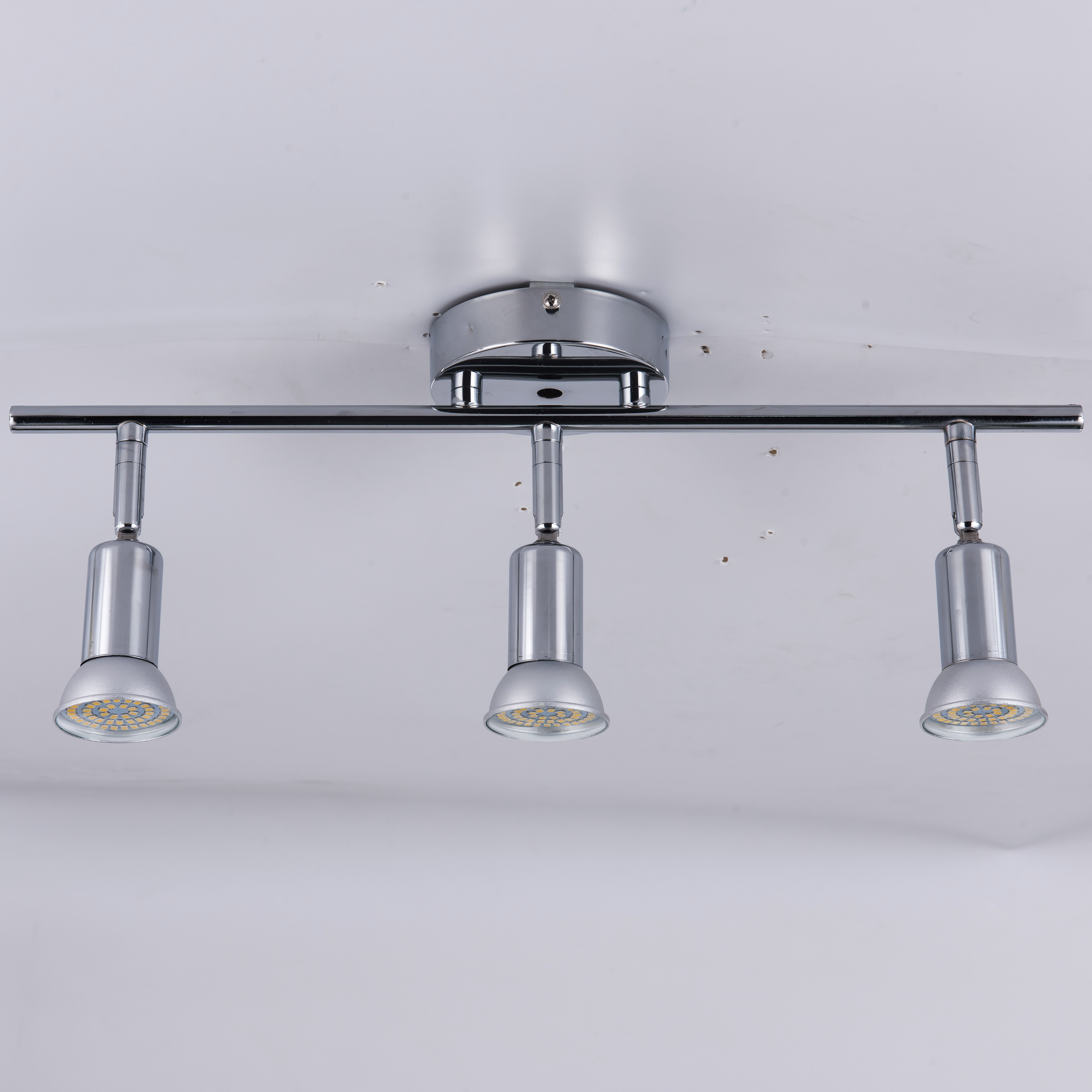 silver flexibly rotatable light head without bulbs 4 heads ceiling light stainless steel wall mounted spot