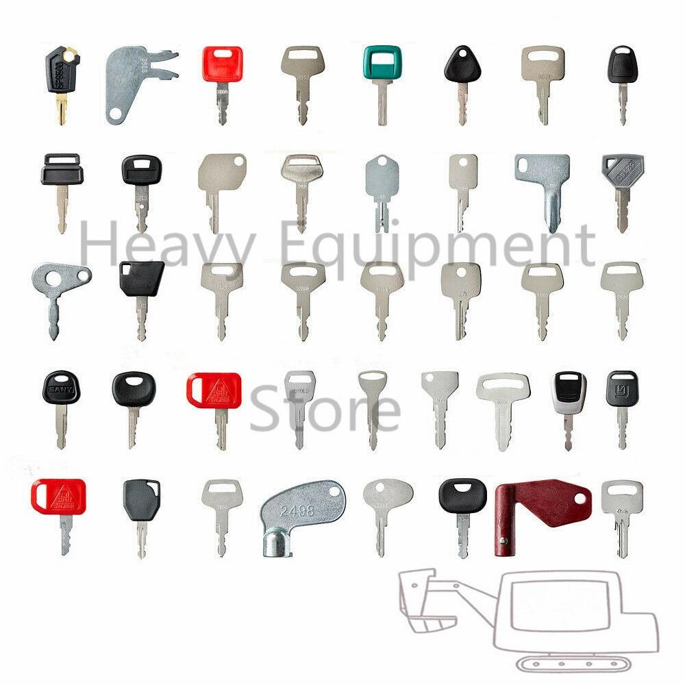 Construction Ignition Key Set 64 Keys Heavy Equipment