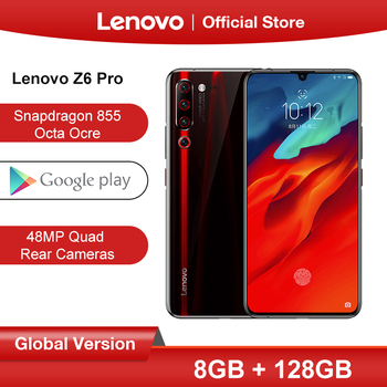 "Original Global ROM Lenovo Z6 Pro 8GB 128GB Snapdragon 855 Octa Core 6.39"" FHD Display Smartphone Rear 48MP Quad Cameras"