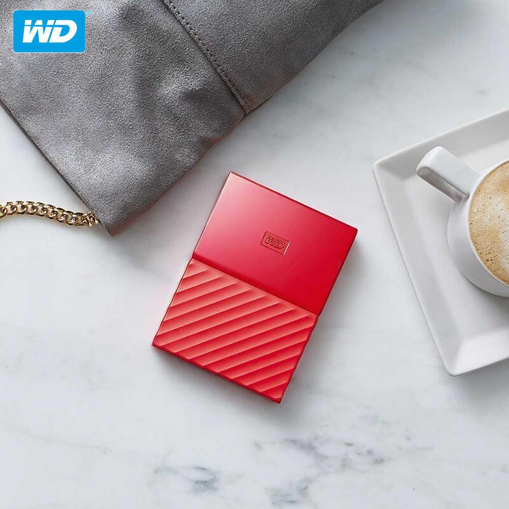 100% Asli Western Digital My Passport HDD 1TB 2TB 4TB USB 3.0 Portabel Eksternal Hard Disk dengan HDD Kabel Windows Mac