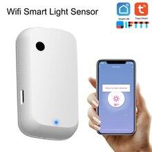 Tuya Smart Home 180 ° WIFI czujnik natężenia oświetlenia inteligentne WiFi czujnik jasności inteligentne życie zasilany przez lampka USB Sensor