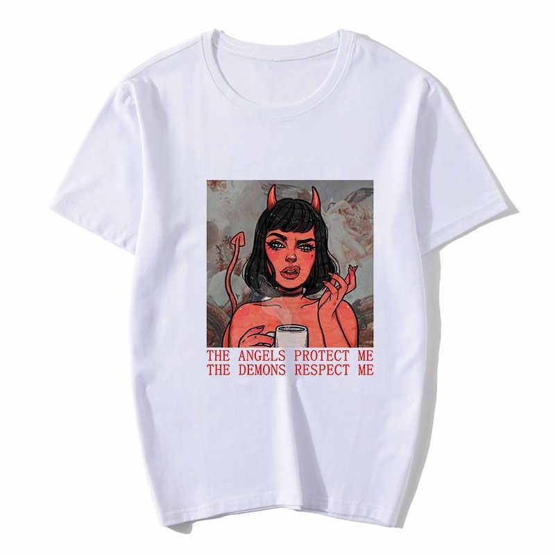 Horror E Meisje Stijl Esthetische T-shirt Gedrukt Zomer Vrouwen Gothic Tshirt Harajuku Kleding Emo Stijl Grafische Vrouwelijke Korte Mouwen