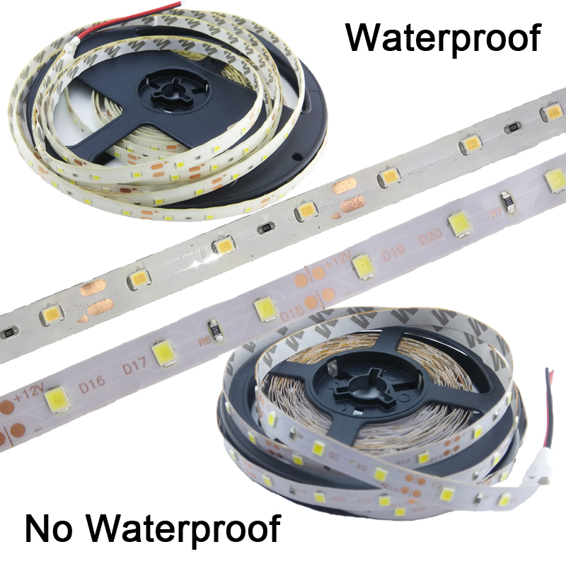5m LED Strip 2835 Flexible Strip DC 12v Light Tape LED Lights Lamps RGB Warm Wihte Red Green Blue For Home Lighting
