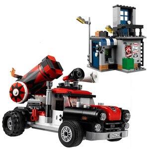 Nuevo 476 Uds. Superhéroes Batman Harley Quinn Cannonball ataque bloques de construcción 70921 Batman modelo juguetes de DC