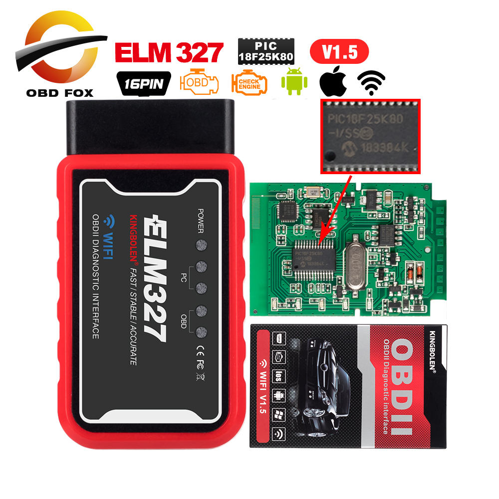 Connector Code-Reader-Scanner Elm 327 V1.5 V2.1 Wifi Usb Obd2 Android-Torque Bluetooth title=