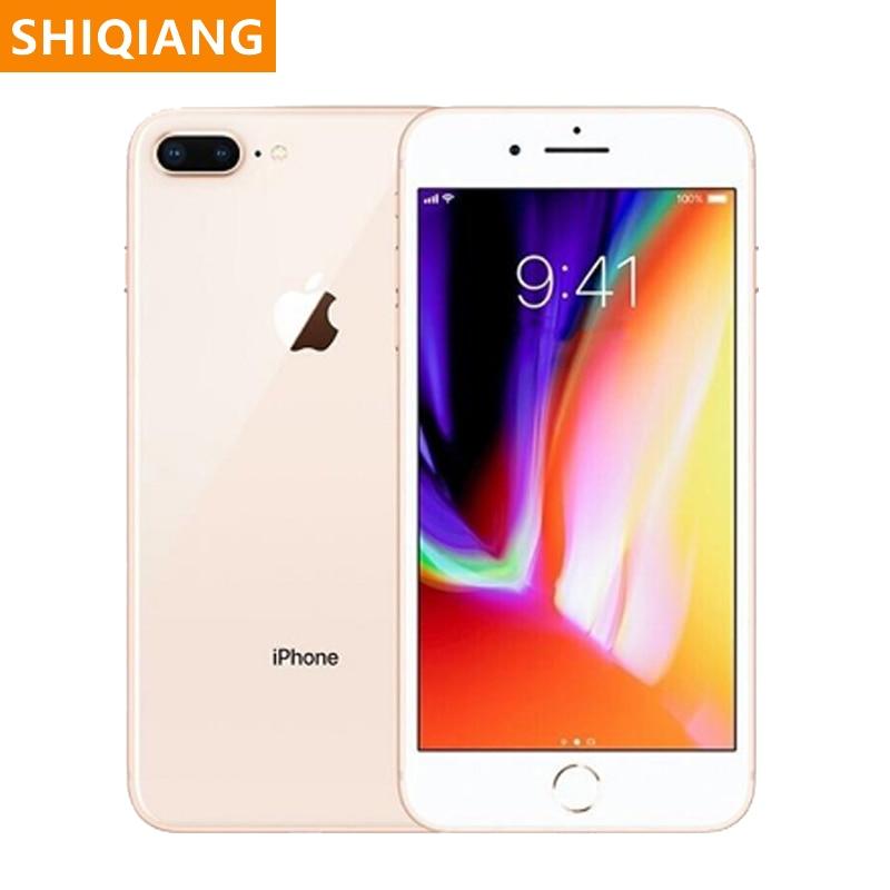 Original apple iphone 8/8 plus usado desbloqueado smartphone hexa núcleo ios 3gb + 64/256gb nfc 5.5 121212mp impressão digital 4g lte celular