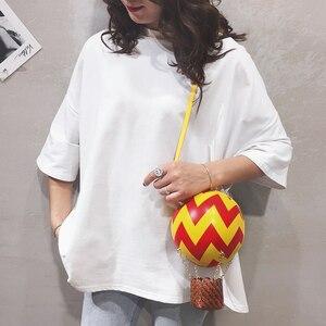 Image 2 - かわいい熱気球デザインカラーストライプファッションの女性のショルダーバッグトートクロスボディバッグ女性財布やハンドバッグトートバッグ
