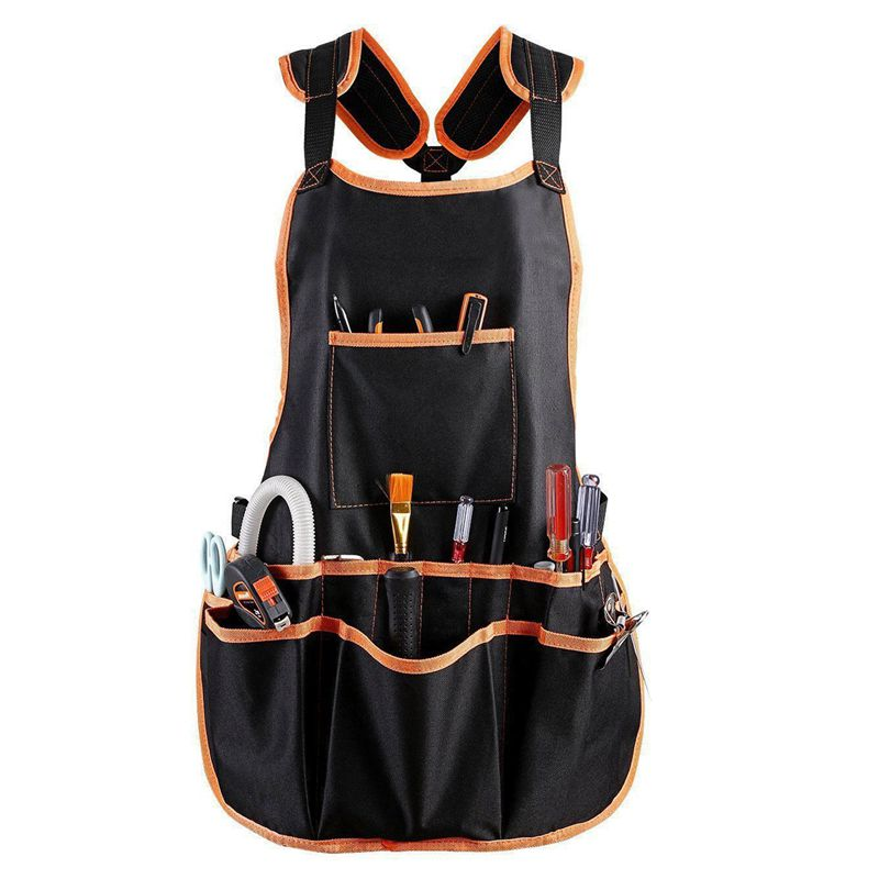 Work Apron tool 16 Tool Pockets tool belt Adjustable vest Tool Apron for mans work apron and women work apron with waterproof ap|Aprons| |  - title=