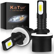 Katur 2 pces h27 led 880 lâmpada led h27w1 2400lm 6500 k branco carro luz de nevoeiro cabeça dianteira condução correndo lâmpada auto 12 v h27w/1 h27w