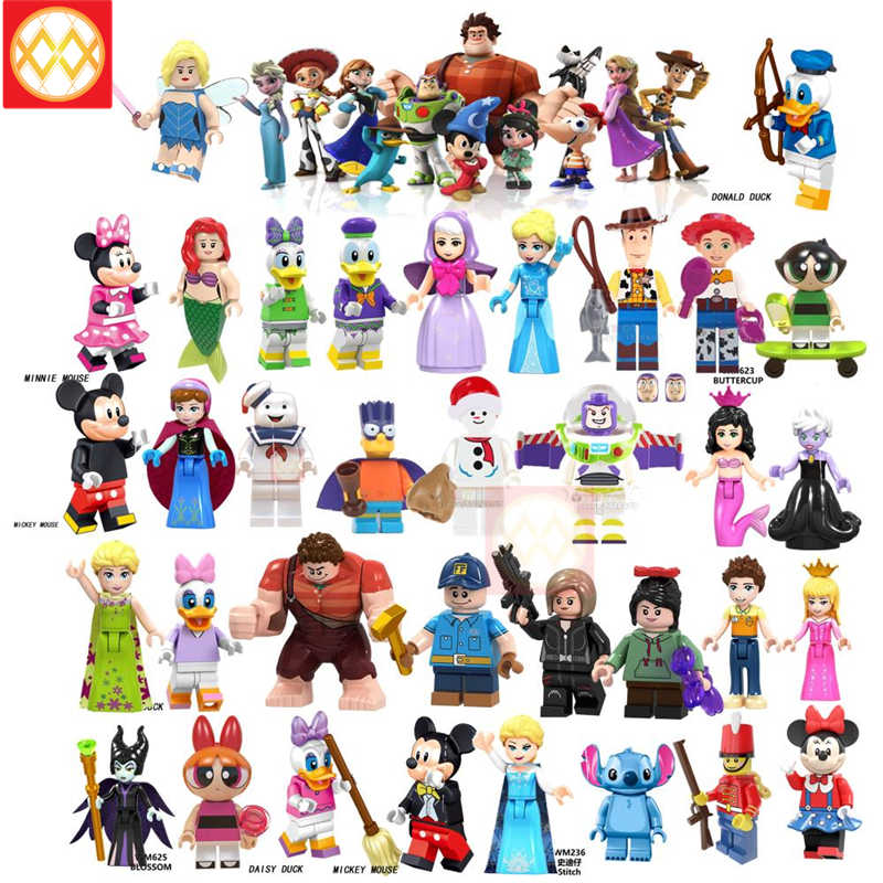 Playmobil friends Toys fairy tale DAISYDUCK MINI MOUSE Toy story Christmas Snowman Pumping Building Blocks Bricks children gifts