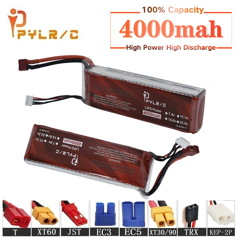 High Rate 11.1v 4000mAh Lipo Battery For RC Helicopter Parts 3s Lithium battery 11.1v 45C RC Cars Airplanes Drone Battery T/XT60